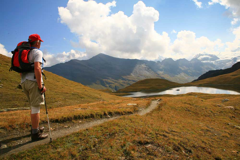 Descending from Col du Torrent to Lac Moiry.