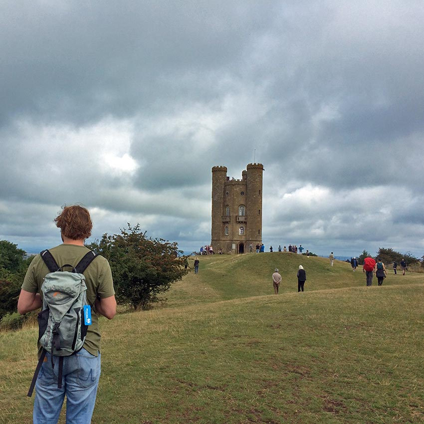 Walking to Broadway Tower, Cotswolds, Sherpa Expeditions UK