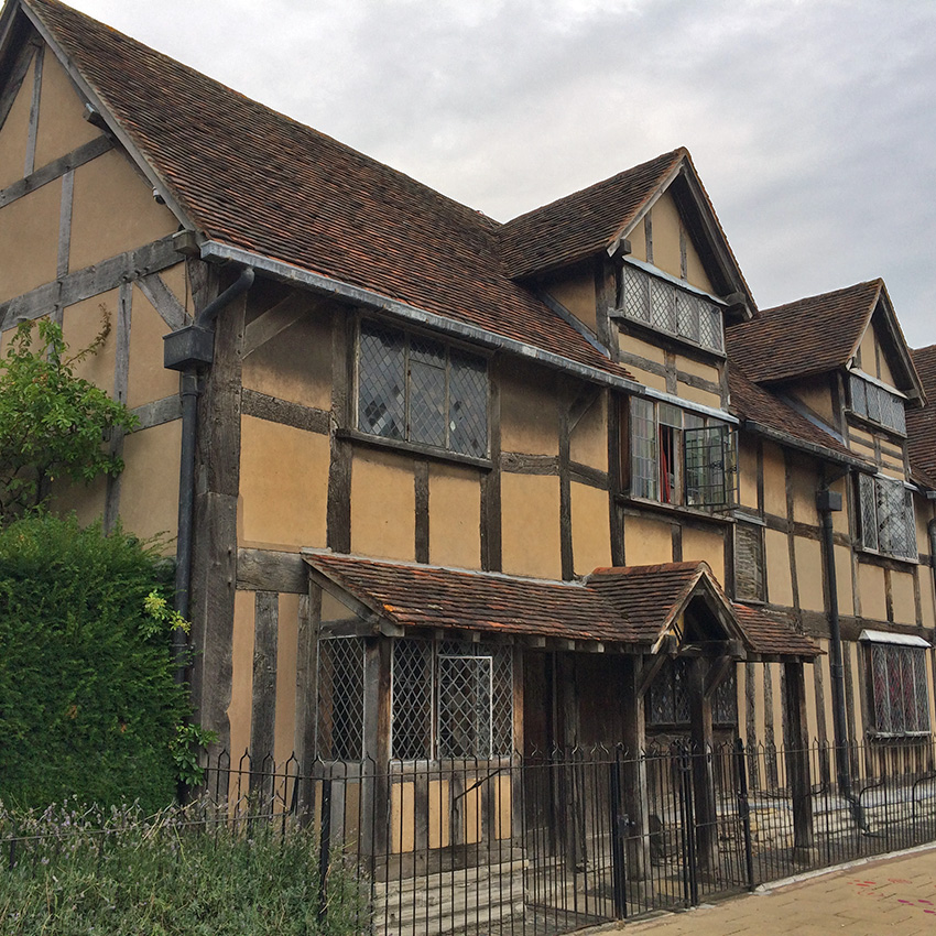 Shakespeare's birthplace in Stratford Upon Avon - Sherpa walking holidays UK