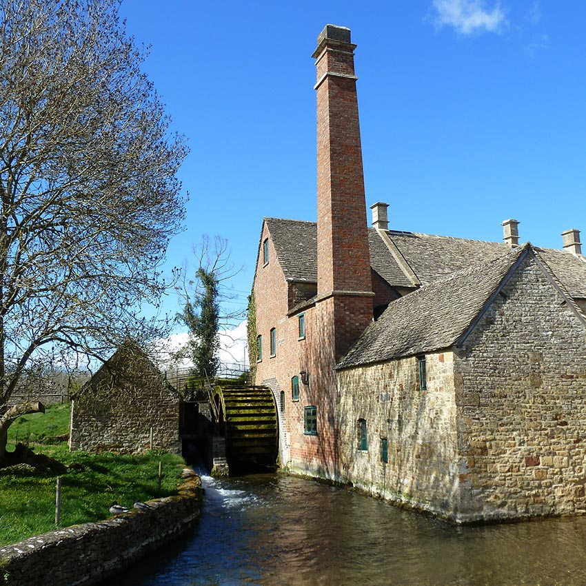 Watermill in Cotswolds, active holidays with Sherpa Expeditions UK