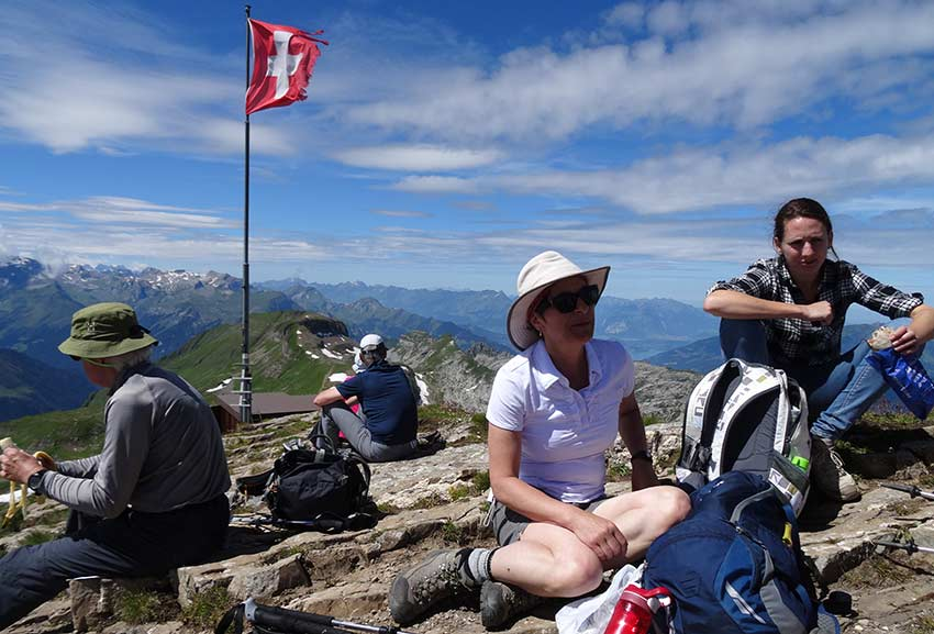 sports sunglasses on alpine walking holidays with Sherpa Expeditions