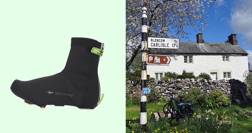waterproof overshoes for cycling with Sherpa Expeditions