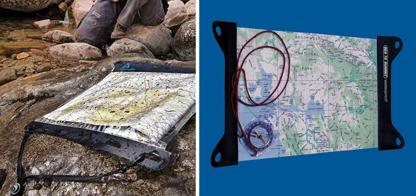 waterproof map cases for walking holidays - Sherpa Expeditions