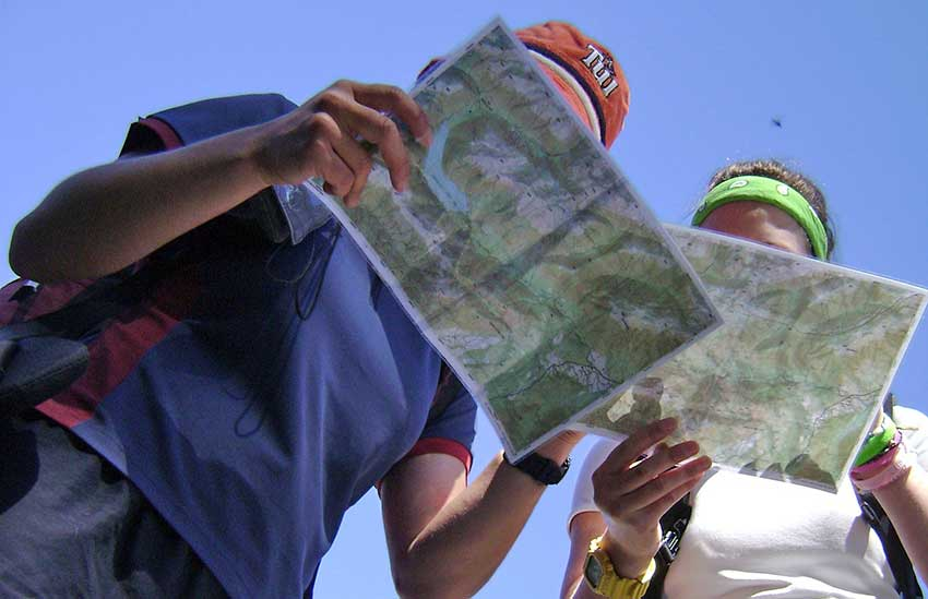 map reading on a walking holiday - Sherpa Expeditions walking holidays
