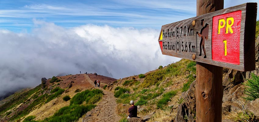 hike up a mountain in Madeira - Sherpa Walking Holidays