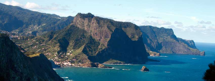 GO NOW: YEAR-ROUND SPAIN AND PORTUGAL-view of Porta Cruz Madeira