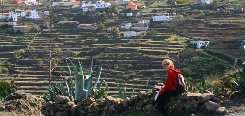GO NOW: YEAR-ROUND SPAIN AND PORTUGAL-rest along walking trail La Gomera